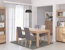 Modern Extendable Dining Table Oak - Kaspian