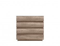 Modern Sideboard Dresser Cabinet Storage Unit Chest of 4 Drawers Oak - Anticca (S317-KOM4S-DAMO-KPL01)