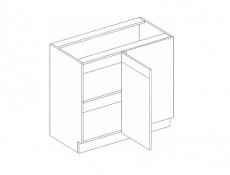 White High Gloss Kitchen Corner Base Cabinet Cupboard 100cm x 60cm Unit - Roxi (Roxi DNP P/L)