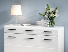 Fever - Wide Sideboard Dresser Cabinet White High Gloss