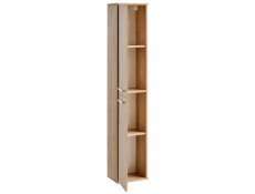 Modern Wall Hung Tall Bathroom Cabinet Tallboy Unit Oak 160cm - Remik