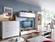Glass Display Cabinet - Bari (S332-REG1W1DL-BI/DNA/BIP-KPL01)