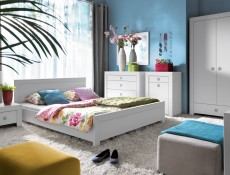 Mezo -  King Size Bed Frame White