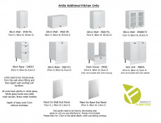 White High Gloss Kitchen Cabinet 1 Door 400 Wall Unit 40cm Shaker Style - Antila (HOF-ANTILA-W40/72/P/L/BI-BIP-KP01)