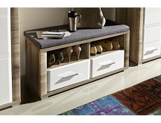 Flame - Shoe Cabinet Bench with Cushion (KOM2S/4/10)