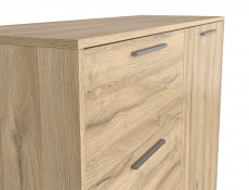 Industrial Large Sideboard Dresser Cabinet Unit with Drawers Oak finish - Gamla