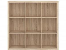 Cube Bookcase Shelf Storage Cabinet Nine Compartments Wenge, White or Sonoma Oak Finish - Nepo