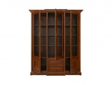 Glass Display Cabinet Classic Style Traditional Living Room Furniture Chestnut Finish - Kent (S10-EREG3w2s-KA-KPL05)