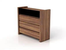 Wide Chest of Drawers Black Gloss - Venom