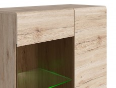 Tall Glass Display Cabinet - Elpasso (REG1W3D/20/9)