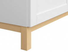 Scandinavian Sideboard Small Cabinet in White & Oak - Haga