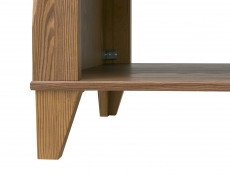 Traditional Light Oak Rectangular Coffee Table with Shelf 130cm Living Room Storage - Bergen (S359-LAW/130-MSZ-KPL01)
