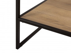 Loft Style Oak Bathroom 80cm Vanity Cabinet Unit Black Metal Industrial Frame Ceramic Sink - Brooklyn