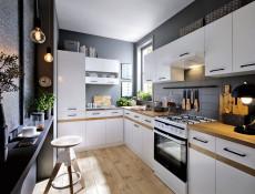 Kitchen Worktop 1000 mm 100cm Golden Oak laminate finish - Junona (K24-DNW/100/82_L-DCRZ-2-KOR01)