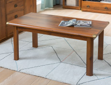 Cottage Style 120cm Large Coffee Table Occasional Table in Dark Oak Effect Finish - Indiana