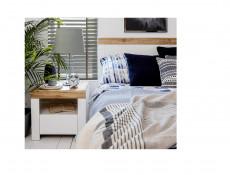 Scandinavian Bedside Cabinet Drawer White Oak Bedroom Storage - Holten