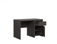 Modern Desk for Study Office Computer with Cabinet & Drawer Wenge 120cm - Kaspian (S128-BIU1D1S/120-WE/WE-KPL03)