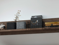 Modern Wall Mounted Shelf Floating Panel 140 cm Living Room Storage Oak - Balin (S365-POL/140-DMON-KPL01)