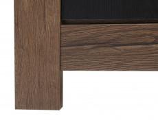 Modern Living Room Wide Sideboard Dresser Storage Cabinet 2 Door Unit with 3 Drawers Oak/Black - Balin