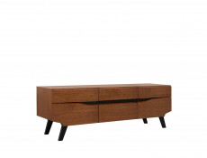 Retro TV Cabinet Unit Storage Living Room Furniture Brown Oak - Madison
