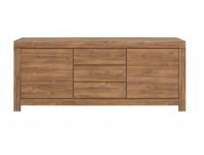 Modern Extra Large Wide Sideboard Dresser Cabinet Storage Unit 200cm Medium Oak Effect - Gent (S228-KOM2D3S/9/20-DAST-KPL01)