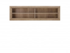 Open Wall Mounted Shelf Cabinet in Oak finish - Koen 2