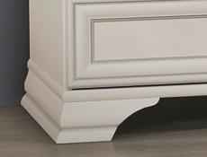 Classic White Matt Two Door Double Wardrobe with Hanging Rail and Storage Drawer - Idento