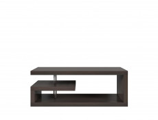 Modern Coffee Table with Shelf Rectangular Design White or Oak or Wenge - GLIMP