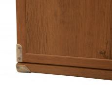 Farmhouse Compact 2 Door Storage Cabinet Small Sideboard Dresser Unit in Dark Oak Effect Finish - Indiana (S31-JKOM2d-DSU-KPL01)