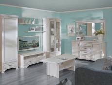 Klasyczne białe matowe lustro duże prostokątne naścienne lustro do sypialni przedpokoju - Idento