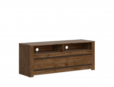 Classic Media Table TV Stand Storage Cabinet Unit Oak/Grey - Kada (S404-RTV3S-DARL-KPL01)