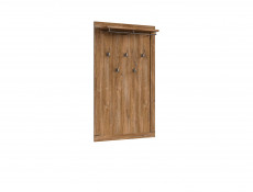 Modern Oak Effect Hallway Furniture Set: Shoe Bench Seat, Cabinet, Mirror and Wall Coat Hanger Hooks - Gent