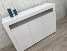 White High Gloss Sideboard Contemporary Unit Display Cabinet - Lily