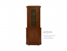 Vintage inspired Corner Glass Fronted Dresser Small Cabinet Top Unit - Kent (S10-ENAD1wn-KA)