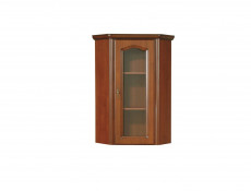 Glass Dresser Cabinet Top Unit Right Classic Style Traditional Living Room Furniture Cherry Finish - Natalia (NAD60P)