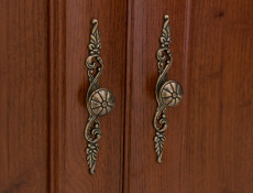 Two Door Wardrobe Classic Style Traditional Bedroom Furniture Chestnut Finish - Kent (S10-ESZF2d1s-KA-KPL02)