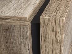 Modern Oak finish Living Room Furniture Set Media TV Storage TaDisplay Bookcase Units Oak finish - Anticca (ANTICCA-LIV-SET-1-4UNIT)