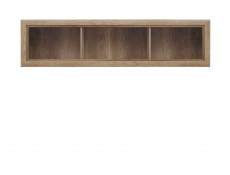 Wall Shelf Display Glass Cabinet in Oak finish - Koen 2 (S337-SFW1W/163-DAMO-KPL01)