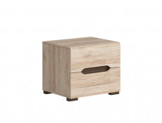 Bedside Cabinet Table 2 Drawer Light Oak finish - Elpasso