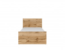 Modern Sturdy Single Bed Frame in Oak Finish - Matos