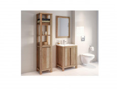 Classic Tall Freestanding Bathroom 1-Door Shelving Cabinet Unit Oak - Classic Oak