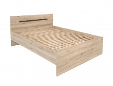 Modern Low King Size Bed Frame Light Oak - Elpasso