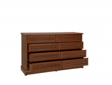 Vintage inspired Large Sideboard Chest of 8 Drawers Dark Wood Tone - Kent