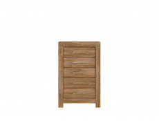 Tall Narrow Chest of Drawers Oak finish Tallboy - Gent (KOM5S/10/7)