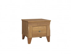 Traditional Bedside Cabinet Side Table with Drawer in Oak finish - Bergen