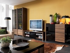 Living Room Furniture Set Black Gloss - Venom (VENOM LIV SET)