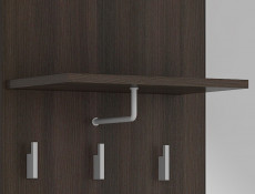 Hallway Stand Entrance Hall Cabinet Shoe Storage Set Wenge Dark Wood Effect Finish - Nepo