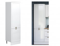 White High Gloss Kitchen Tall Cabinet 2 Door 600 Larder Pantry 60cm Shaker Style - Antila