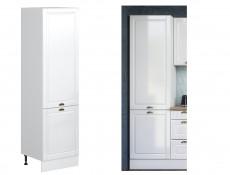 White High Gloss Kitchen Tall Cabinet 2 Door 600 Larder Pantry 60cm Shaker Style - Antila (HOF-ANTILA-D60SL_P/L-BI-BIP-KP01)