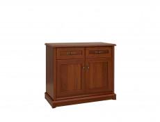 Vintage inspired Small Sideboard Dresser Cabinet Dark Wood Tone - Kent